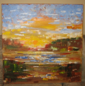 Sunset, by local artist from Oakland, NJ.